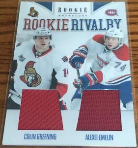 2011-12 Panini Rookie Anthology Rookie Rivalry Dual Jerseys C.Greening/A.Emelin