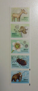 2016 SWEDEN MUSEUM OF NATURAL HISTORY 5 STAMP BOOKLET MINT STAMPS