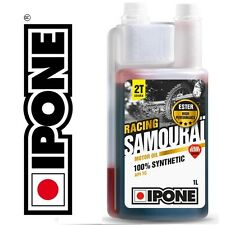 Huile IPONE Samourai Racing Fraise 2 TEMPS 2T Moto 100% synthèse cross enduro