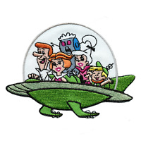 Officially Licensed The Jetsons All Characters In Ship Embroidered Iron On Patch
