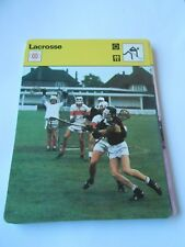 Fiche Card 1977  sport Lacrosse Tout est permis