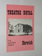 Theatre Royal Norwich Programme The Sleeping Prince. Susan Hampshire 1968.