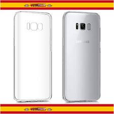 "Funda de silicona gel TPU fina para Samsung Galaxy S8 5 8"" transparente carcasa"