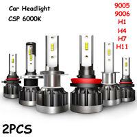 9-36V 6000K CSP LED Scheinwerfer Kit Auto Beam Birne Weiß Nebelscheinwerfer