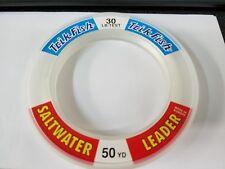 1 Spool Trik Fish Saltwater CLEAR Leader Material 30 lbs. Test 50 Yards