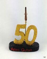 Zahl mit Clip 50 Zettelhalter Tischdekoration  Geldgeschenke Jubileum goldene HZ