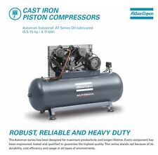 Atlas Copco AT75 Automan 7HP Piston Heavy Duty Air Compressor 270L Receiver