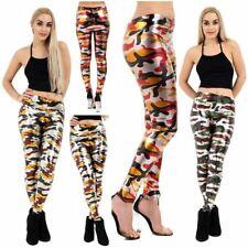 Women Metallic Camo Leggings Buttery Soft Stretch Military Army Print Yoga pants