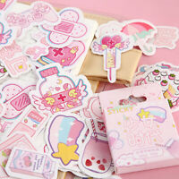 46pcs/box Pink Girlhood DIY Diary Stickers Paper Lables Gifts Packaging Deco M*