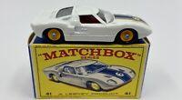 Matchbox No. 41 Ford G.T. Racing Car in Original 'E2' Box