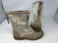 NEW! Roxy Women's Concord Lace Up Boots Tan With Lace 170RST dz