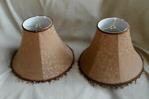 PAIR SHABBY CHIC LAMP SHADES