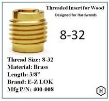 Ez Lok Pn 400 008 8 32 Threaded Brass Insert For Wood 10 Pieces