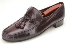 Brooks Brothers Burgundy Leather Tassel Loafers Size 9.5 D Moc Toe Made In Italy