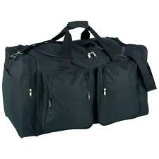 "New Large 25"" Heavy Duty Black Tote Bag Water Resistant Gym Duffle Shoulder Gear"