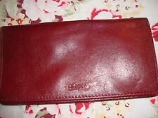 Wilson Leather Studio Checkbook Wallet Holder - Burgundy Leather Very Nice!  306