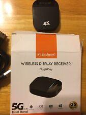 MiraScreen 2.4G/5G WiFi TV Dongle G5 Plus Wireless 4k Display Receiver DLNA