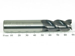 16mm GARR 853MA 3 Flt Solid Carbide ALTiN Coated High Performance End Mill 10137