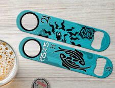 Pisces Zodiac Birth Sign Personalized Bartenders Bar Blades Speed Bottle Openers