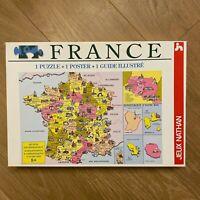 Puzzle 100 pièces ❤️ France Départements - NATHAN - Complet