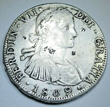 1809 Chopmarks Spanish Silver 8 Reales Eight Real Countermark Counterstamp Coin