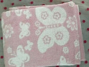 NEW Pottery Barn Kids  ONE (1) BUTTERFLY PINK  BATH TOWEL ~ ONLY ~
