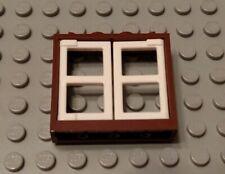 Lego Castelo 1x2x2 2//3 Marrom Avermelhado Arco Janela /& Pearl Gold Treliça-Lote De 12