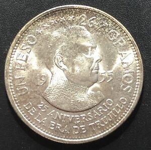 Dominican Republic 1955 Peso Silver Coin
