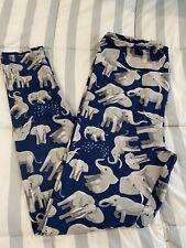 LuLaRoe TC Elephant Leggings Blue Background
