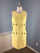 MICHAEL KORS yellow tweed dress M 8 10 Career Sheath