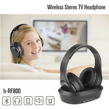 Wireless TV Headphones Over Ear Headsets - Digital Stereo with 2.4GHz RF800