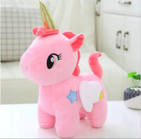 Pink Unicorn Stuffed Animal Cute Horse Cartoon Plush Doll Toy Gift For Kids 25cm