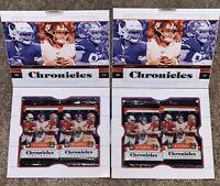 2019 Panini Chronicles Football Open Hobby Box 2 Boxes See Description