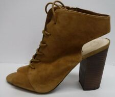 Jessica Simpson Size 8.5 Honey Brown Suede Ankle Booties New Womens Shoes