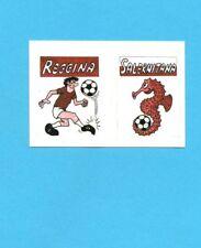 CALCIO 1988-EUROFLASH-Figurina-MASCOTTE-REGGINA+SALERNITANA-NEW