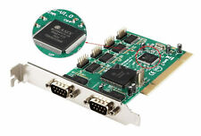 PCI 32bit 6xSerial RS-232 RS232 DB9 Com Ports Controller Card Mcs9865 Chips