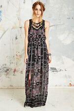NWOT $148 Free People Printed Chiffon Lace Boho Maxi Dress 4 ASO Miranda Lambert