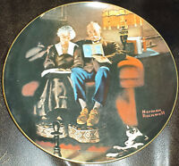 "NORMAN ROCKWELL LIGHT CAMPAIGN 4TH ISSUE ""EVENINGS EASE PLATE KNOWLES FINE CHINA"