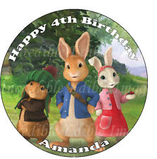 19cm Round Peter Rabbit Edible ICING Cake Toppers