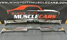 1973 Challenger Premium Chrome Front & Rear Bumper w/ Jack Slots MADE IN USA