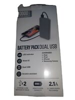 samsung 10000 MAH portable battery wireless Dual USB Palm size 4X charge & € x 2
