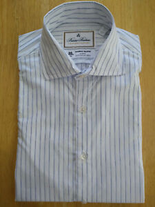 NWOT Brooks Brothers Luxury Collection White Blue Stripe Small Milano MSRP $168