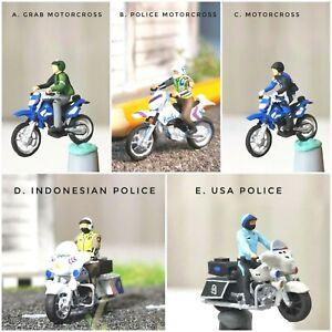 Miniature Figure Motorcross , Motorcycle Scale H0 1/87 or 1/64 no Preiser