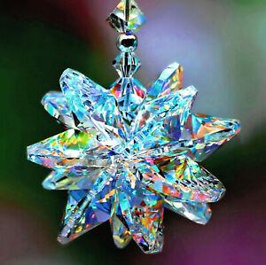 Aurora Star Burst SunCatcher Car Charm + Rare Beads m/w ALL SWAROVSKI CRYSTAL