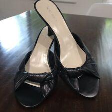 Nine West black open toe kitten heel sandals (8)