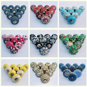 Vintage ceramic knobs drawer pulls cupboard cabinet door knobs Set of 10 pcs