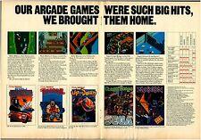 Vtg. 1984 SEGA Zaxxon Congo Bongo Atari Colecovision video game print ad page