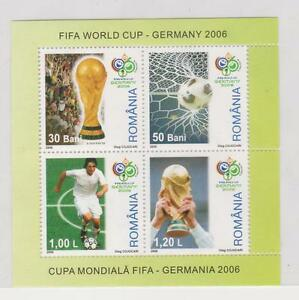 (RB 024) 2006 Romania  FIFA World Cup Stamps, Block In 4  - MNH