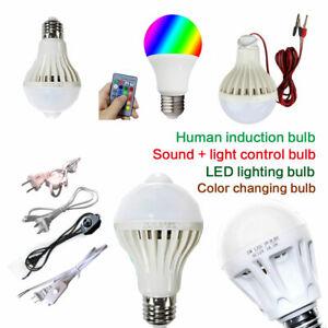 Energy Saving E27 Screw Bulb Light 5W 9W 12W 15W Music Colorful Lamp 12V -265V
