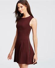 Ann Taylor - Size 18 (XXL) Plum Braid Seamed Flare Dress $139.00